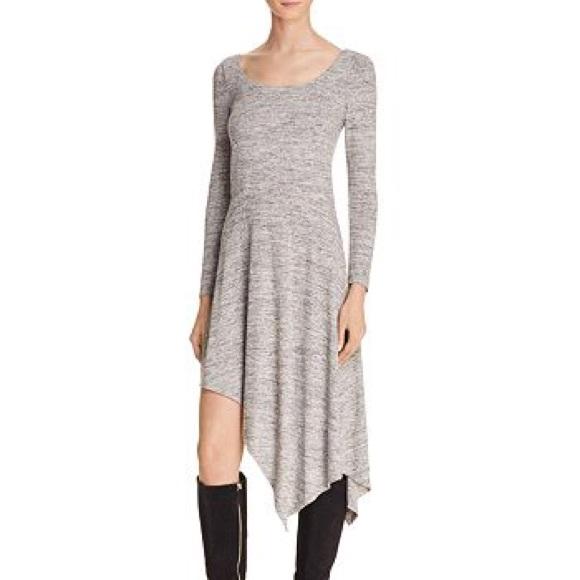 Alice + Olivia Geneva Melange Asymmetric Dress